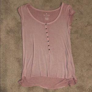 shirtsleeve flowy pink top